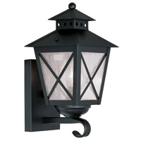 Livex Lighting Montgomery 1 Light Outdoor Wall Lantern in Black 2670-04