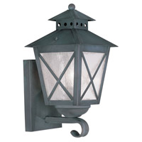 Livex Lighting Montgomery 1 Light Outdoor Wall Lantern in Charcoal 2670-61 photo thumbnail