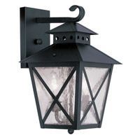 Livex Lighting Montgomery 2 Light Outdoor Wall Lantern in Black 2671-04