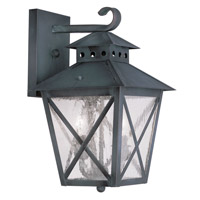 Livex Lighting Montgomery 2 Light Outdoor Wall Lantern in Charcoal 2671-61