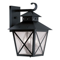Livex Lighting Montgomery 3 Light Outdoor Wall Lantern in Black 2672-04