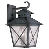 Livex Lighting Montgomery 3 Light Outdoor Wall Lantern in Charcoal 2672-61