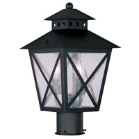 Livex Lighting Montgomery 2 Light Outdoor Post Head in Black 2673-04 photo thumbnail