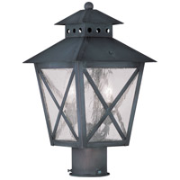 Livex Lighting Montgomery 2 Light Outdoor Post Head in Charcoal 2673-61
