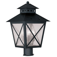 Livex Lighting Montgomery 3 Light Outdoor Post Head in Black 2674-04