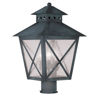 Livex Lighting Montgomery 3 Light Outdoor Post Head in Charcoal 2674-61 photo thumbnail