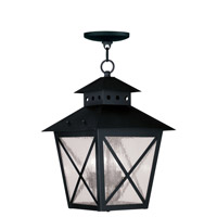 Livex Lighting Montgomery 3 Light Outdoor Hanging Lantern in Black 2675-04