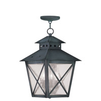 Livex Lighting Montgomery 3 Light Outdoor Hanging Lantern in Charcoal 2675-61