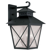 Livex Lighting Montgomery 3 Light Outdoor Wall Lantern in Black 2676-04