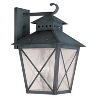 Livex Lighting Montgomery 3 Light Outdoor Wall Lantern in Charcoal 2676-61