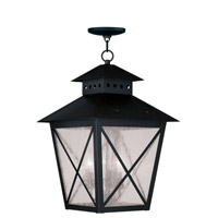Livex Lighting Montgomery 3 Light Outdoor Hanging Lantern in Black 2677-04