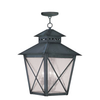Livex Lighting Montgomery 3 Light Outdoor Hanging Lantern in Charcoal 2677-61