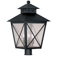 Livex Lighting Montgomery 3 Light Outdoor Post Head in Black 2678-04 photo thumbnail