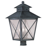Livex Lighting Montgomery 3 Light Outdoor Post Head in Charcoal 2678-61