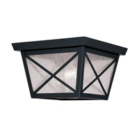 Livex Lighting Montgomery 2 Light Outdoor Ceiling Mount in Black 2679-04