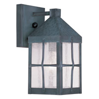 Livex Lighting Brighton 1 Light Outdoor Wall Lantern in Hammered Charcoal 2680-61