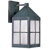 Livex 2681-61 Brighton 1 Light 15 inch Hammered Charcoal Outdoor Wall Lantern