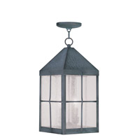Livex Lighting Brighton 3 Light Outdoor Hanging Lantern in Hammered Charcoal 2683-61