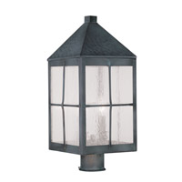 Livex Lighting Brighton 3 Light Outdoor Post Head in Hammered Charcoal 2684-61