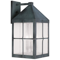 Livex Lighting Brighton 4 Light Outdoor Wall Lantern in Hammered Charcoal 2685-61