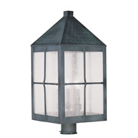 Livex Lighting Brighton 4 Light Outdoor Post Head in Hammered Charcoal 2686-61
