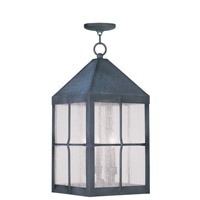 Livex Lighting Brighton 4 Light Outdoor Hanging Lantern in Hammered Charcoal 2687-61