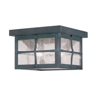 Livex Lighting Brighton 2 Light Outdoor Ceiling Mount in Hammered Charcoal 2688-61
