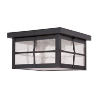Livex Lighting Brighton 3 Light Outdoor Ceiling Mount in Bronze 2689-07