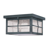 Livex 2689-61 Brighton 3 Light 10 inch Hammered Charcoal Outdoor Ceiling Mount photo thumbnail