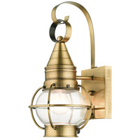 Livex 26900-01 Newburyport 1 Light 14 inch Antique Brass Outdoor Wall Lantern