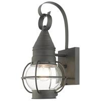 Livex 26900-61 Newburyport 1 Light 14 inch Charcoal Outdoor Wall Lantern
