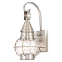 Livex 26900-91 Newburyport 1 Light 14 inch Brushed Nickel Outdoor Wall Lantern
