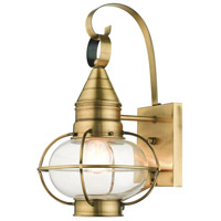 Livex 26901-01 Newburyport 1 Light 15 inch Antique Brass Outdoor Wall Lantern