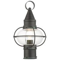 Livex 26902-61 Newburyport 1 Light 15 inch Charcoal Outdoor Post Top Lantern