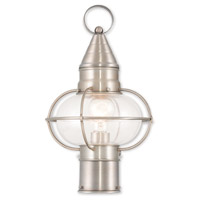 Livex Lighting Newburyport 1 Light Post Lantern in Brushed Nickel 26902-91
