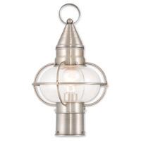 Livex 26902-91 Newburyport 1 Light 15 inch Brushed Nickel Post Lantern