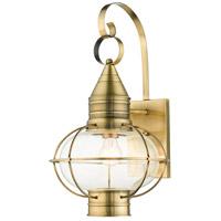 Livex 26904-01 Newburyport 1 Light 21 inch Antique Brass Outdoor Wall Lantern