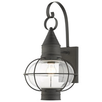 Livex 26904-61 Newburyport 1 Light 21 inch Charcoal Outdoor Wall Lantern