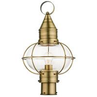 Livex 26905-01 Newburyport 1 Light 20 inch Antique Brass Outdoor Post Top Lantern