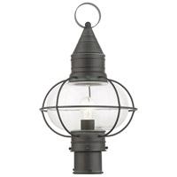 Livex 26905-61 Newburyport 1 Light 20 inch Charcoal Outdoor Post Top Lantern