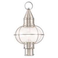 Livex Lighting Newburyport 1 Light Post Lantern in Brushed Nickel 26905-91