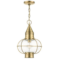 Livex 26906-01 Newburyport 1 Light 11 inch Antique Brass Outdoor Pendant Lantern