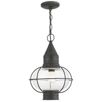 Livex 26906-61 Newburyport 1 Light 11 inch Charcoal Outdoor Pendant Lantern
