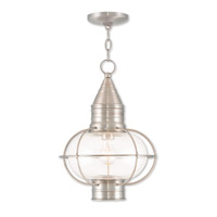 Livex 26906-91 Newburyport 1 Light 12 inch Brushed Nickel Outdoor Chain Lantern