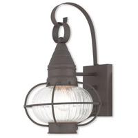 Livex 27001-07 Newburyport 1 Light 15 inch Bronze Outdoor Wall Lantern