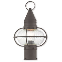 Livex 27002-07 Newburyport 1 Light 15 inch Bronze Post Lantern