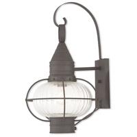 Livex 27004-07 Newburyport 1 Light 21 inch Bronze Outdoor Wall Lantern