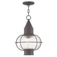 Newburyport 1 Light 12 inch Bronze Outdoor Chain Lantern