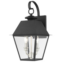 Livex 27215-04 Mansfield 2 Light 17 inch Black Outdoor Wall Lantern