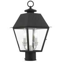 Livex 27216-04 Mansfield 2 Light 17 inch Black Outdoor Post Top Lantern